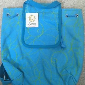 SUNNY HAWAII Backpack in Blue and Green